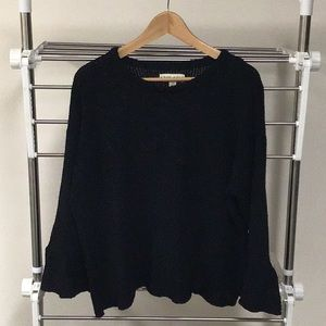 Knox Rose black sweater with bell sleeves